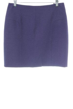 Esprit Falda de lana violeta oscuro estilo «business»