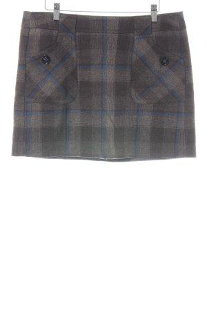 Esprit Jupe en laine gris clair-bleu motif à carreaux style décontracté