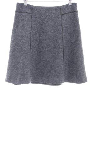 Esprit Gonna di lana grigio-grigio scuro puntinato stile casual