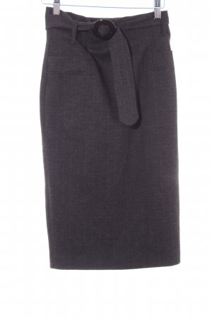 Esprit Gonna di lana grigio-nero motivo a zig-zag stile professionale
