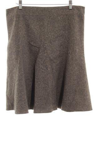 Esprit Wollen rok grijs-bruin-zwart gestippeld Britse uitstraling