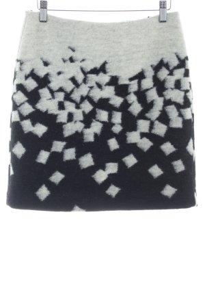 Esprit Gonna di lana nero-crema motivo astratto stile semplice