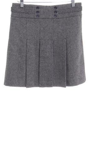 Esprit Gonna di lana nero-grigio chiaro puntinato stile urbano