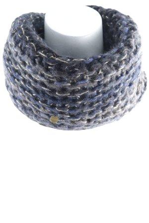Esprit Wollschal braunviolett-blauviolett Lochstrickmuster Casual-Look