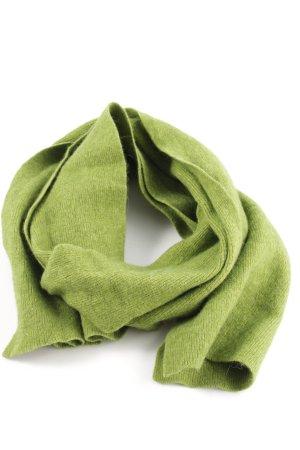 Esprit Bufanda de lana verde punto trenzado look casual