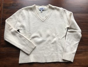 Esprit,Wool,Lambswool Strickpullover,Pulli,cremeweiß V-Neck