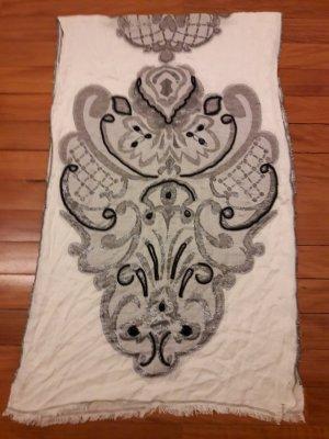 Esprit XXL Schal Tuch mit Stickerei und Perlen ein mal getragen