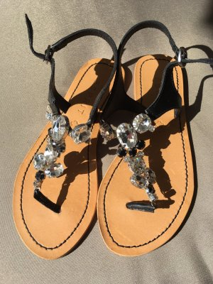 Esprit Toe-Post sandals light brown-black