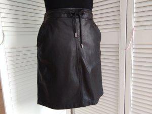 Faux Leather Skirt black imitation leather