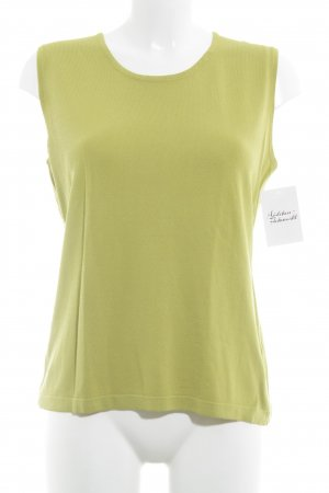 Essentials oui Canotta giallo lime stile casual