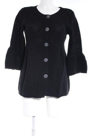 Essentials oui Chaqueta de lana negro look casual