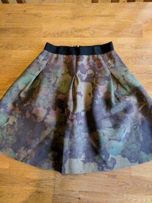 Essentiel Antwerp Plaid Skirt brown casual look