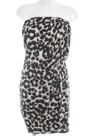 Essentiel Antwerp schulterfreies Kleid abstraktes Muster Casual-Look