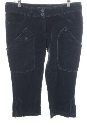 Essentiel Pantalone di velluto a coste blu scuro stile casual