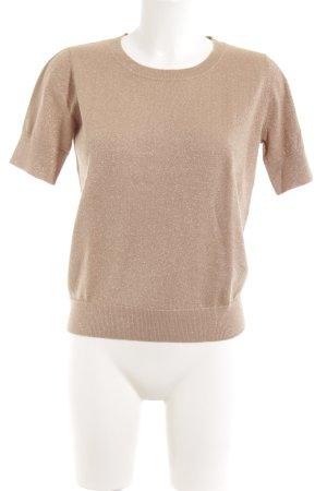 Essentiel Kurzarmpullover beige Casual-Look
