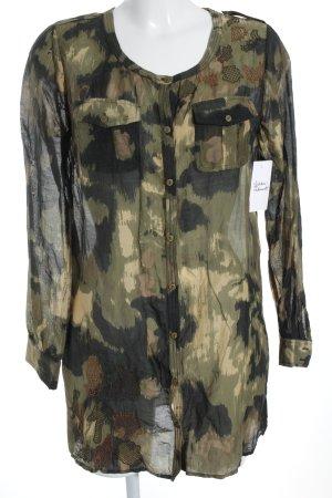 Essentiel Seidenbluse Camouflagemuster Casual-Look