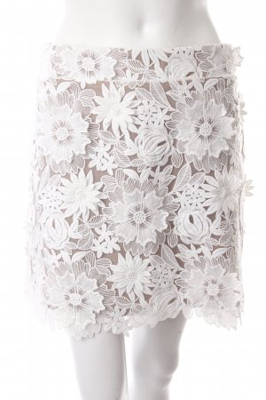 Essentiel Lace Skirt white-beige romantic style