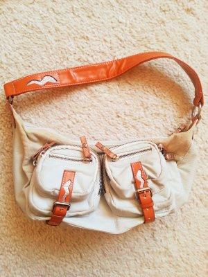 Shoulder Bag cream-dark orange imitation leather