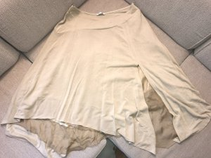 Falda asimétrica crema-marrón arena