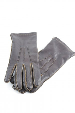 Estil Lederhandschuhe dunkelbraun-bronzefarben Brit-Look