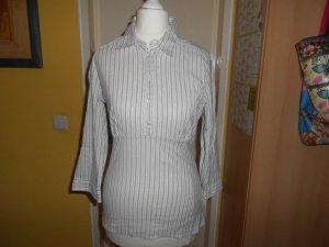 Etam- grau-weiß gestreifte Bluse Gr. 36