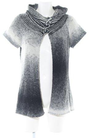 Etam Gebreid jack met korte mouwen zwart-wit casual uitstraling