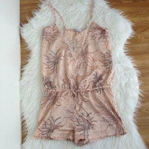 ETAM Satin Pyjama in Gr. M French Lingerie Spitze Floral Lace Jumpsuit 56 € NP