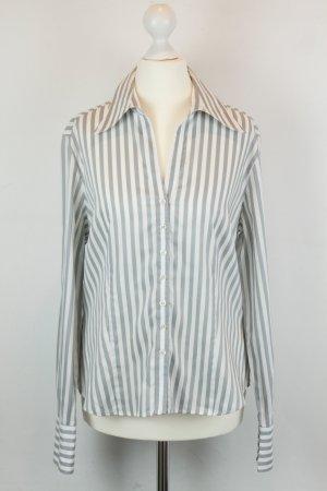 Eterna Bluse Gr. 40 grau weiß Streifen
