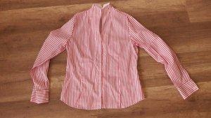 Eterna Bluse Stehkragen Business Streifen Pink Weiß Hemd 38