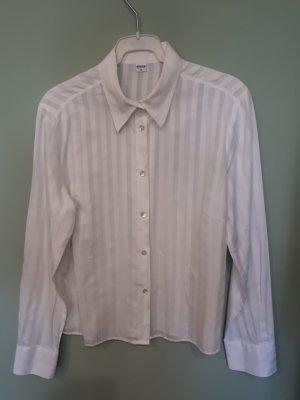 Eterna Bluse, weiß, Streifen, Größe 40