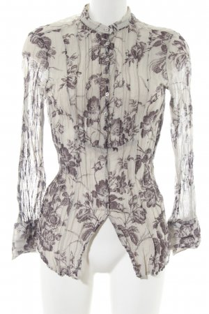 Eterna Crash Blouse natural white-brown allover print casual look