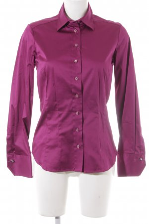 Eterna Glanzende blouse violet wetlook