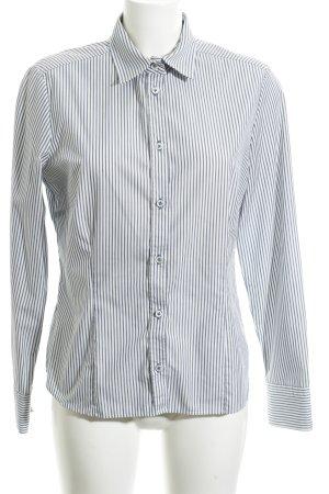 Eterna Hemd-Bluse weiß-blau Streifenmuster Business-Look