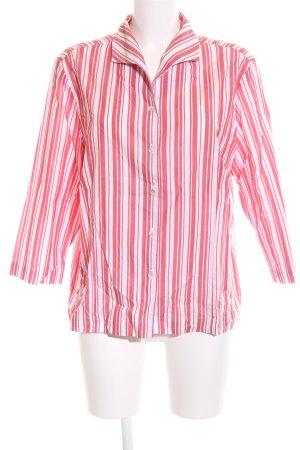 Eterna Hemd-Bluse weiß-rot Streifenmuster Casual-Look