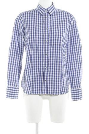 Eterna Hemd-Bluse blau-weiß Karomuster Business-Look