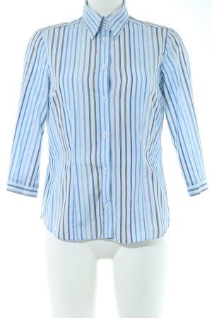Eterna Hemd-Bluse blau-braun Streifenmuster Business-Look