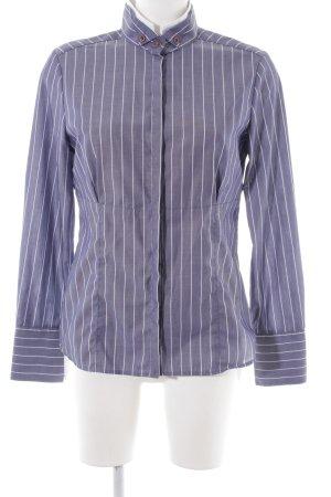 Eterna Hemd-Bluse neonblau-weiß Streifenmuster Business-Look