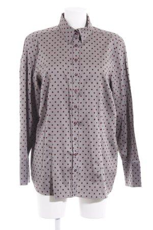 Eterna Hemd-Bluse grau-purpur Punktemuster Business-Look