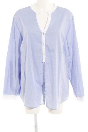 Eterna Hemd-Bluse kornblumenblau-weiß Casual-Look