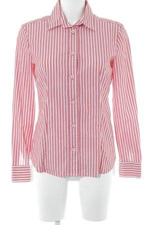 Eterna Hemd-Bluse rot-weiß Streifenmuster Business-Look