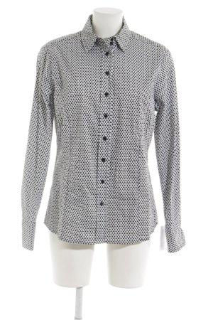 Eterna Hemd-Bluse schwarz-weiß abstraktes Muster Business-Look