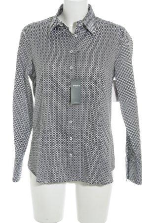 Eterna Hemd-Bluse schwarz-weiß abstraktes Muster Casual-Look