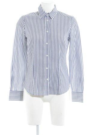Eterna Hemd-Bluse weiß-graublau Streifenmuster Casual-Look