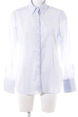 Eterna Hemd-Bluse weiß-himmelblau abstraktes Muster Business-Look