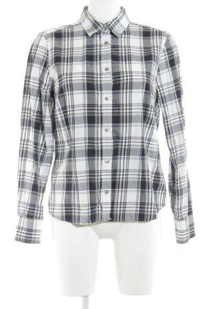 Eterna Hemd-Bluse weiß-schwarz Karomuster Casual-Look