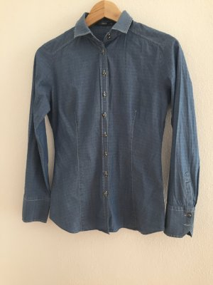 Eterna Jeansbluse # 34 Baumwolle