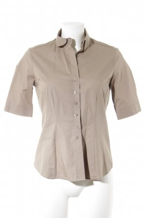 Eterna Kurzarm-Bluse beige Business-Look