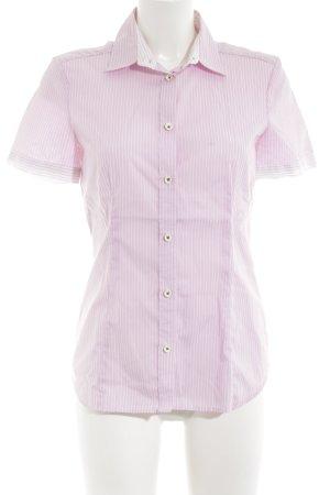 Eterna Kurzarmhemd pink-weiß Streifenmuster Casual-Look