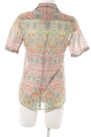 Eterna Kurzarmhemd abstraktes Muster Ethno-Look
