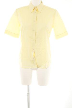 Eterna Camicia a maniche corte giallo chiaro stile casual